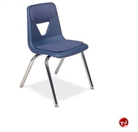 Picture of AILE Armless Poly Stack Chair, Padded Seat