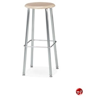 Picture of ACE Steel Backless Stool, Hard Plastic Seat