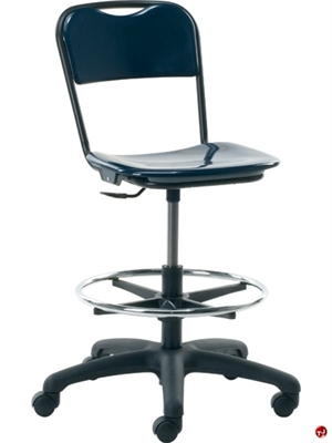 Picture of AILE Hard Plastic Task Swivel Stool Chair, Footring
