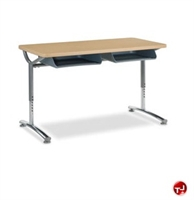 Picture of AILE 2 Student Height Adjustable Classroom Desk