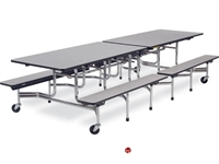 Picture of AILE Mobile Folding Cafeteria Lunchroom Bench Table