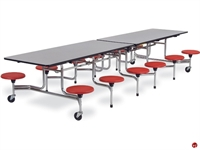 Picture of AILE Mobile Folding Cafeteria Stool Table