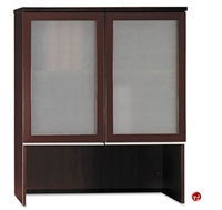 "Picture of Bush Milano2 36""W Bookcase Overhead with Glass Doors"