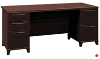 "Picture of Bush Enterprise 72"" Double Pedestal Desk"