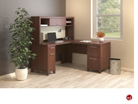 "Picture of Bush Enterprise 60""W L Shape Corner Desk with Overhead StorageDescription"