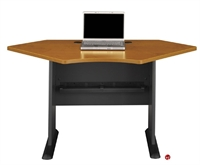 "Picture of ADES 42"" Curve Computer Desk"