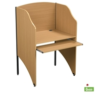 "Picture of 48""H Study Carrel Telemarketing Workstation"