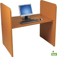 "Picture of 42""H Study Carrel Telemarketing Workstation"