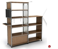 "Picture of Apti 60""H Adder Double Faced Bookcase Shelving, Steel Frame"