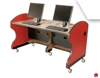 Picture of Apti 2 Person Mobile Study Carrel, Telemarketing Workstation
