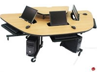 Picture of Apti 3 Person Mobile Student Training Table