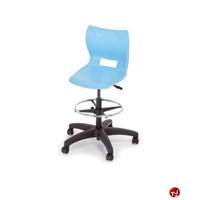 Picture of Bert Poly Shell Armless Task Stool Chair, Footring