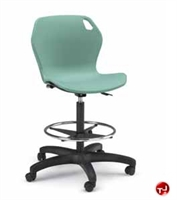 Picture of Bert Poly Shell Armless Task Swivel Stool Chair, Footring