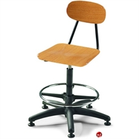 Picture of Bert Poly Armless Task Swivel Stool Chair, Footring