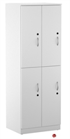 "Picture of 24""W 2 Tier 4 Door Quad Steel Locker"
