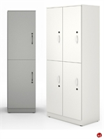 "Picture of 18""W 2 Tier 6 Door Steel Locker Storage"