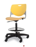 Picture of Bert Poly Shell Armless Task Swivel Stool Chair