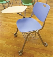 Picture of Bert Mobile Tablet Arm Chair, Poly Shell