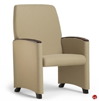Picture of Healthcare Medical Glider Arm Chair, Wood Arm Cap