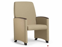 Picture of Healthcare Medical Glider Chair, Wood Arm Cap
