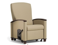 Picture of Healthcare Medical Bariatric Patient Recliner, Wood Armcap