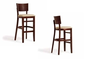 Picture of Cafeteria Dining Armless Wood Barstool