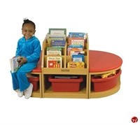 Picture of Astor Kids Bench Reading Book Display Cabinet