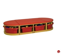 Picture of Astor Kids Reading Bench, Storage Cubbies