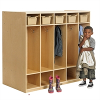 Picture of Astor Two Sided Open Shelf Wood Coat Locker