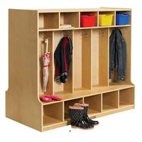 Picture of Astor Two Sided Open Shelf Wood Coat Locker