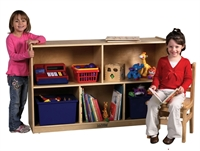 Picture of Astor Kids Play Open Shelf Wood Storage Cabinet