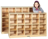 Picture of Astor Open Shelf Wood Storage Lockers
