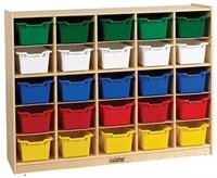 Picture of Astor Open Shelf Wood Storage Locker Cabinet