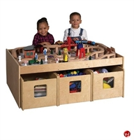 Picture of Astor Kids Play Wood Table with Storage