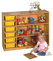 Picture of Astor 3 Shelf Wood Compartment Toy Open Storage
