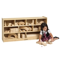 Picture of Astor Mobile Open Shelf Wood Storage Cabinet