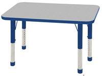 "Picture of Astor 24"" x 36"" Height Adjustable School Activity Table"