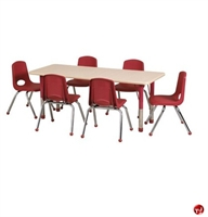"Picture of Astor 24"" x 72"" Height Adjustable Activity School Table"