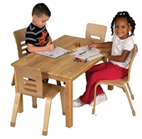 "Picture of Astor 24"" x 36"" Rectangular Kids Play Wood Table"