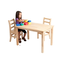 "Picture of Astor 24"" x 36"" Kids Play Wood Table"