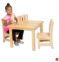 "Picture of Astor 24"" Square Kids Play Wood Table"