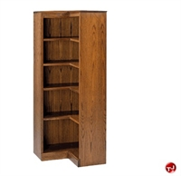 "Picture of Hale 200 Series 60""H 5 Shelf Corner L Shape Open Bookcase"
