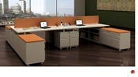 Picture of 4 Person Bench Seating Teaming Steel Desk Workstation