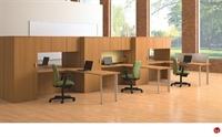 Picture of KI Aristotle 6 Person L Shape Office Desk Workstation, Wardrobes