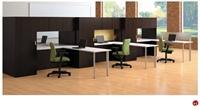 Picture of KI Aristotle 6 Person L Shape Office Desk Workstation, Wardrobe