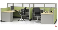 Picture of 2 Person L Shape Office Cubicle Workstation