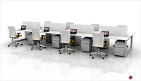 Picture of 8 Person Bench Seating Teaming Desk Workstation