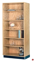 "Picture of DEVA 84""H Open Shelf Wood Bookcase Storage"