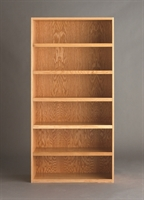 "Picture of DEVA 72""H Open Shelf Chemical Wood Bookcase Storage"