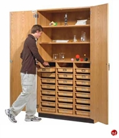 "Picture of DEVA 84""H Heavy Duty Compartment Storage Cabinet"